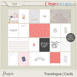 Travelogue Cards by Dunia Designs