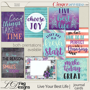 Live Your Best Life: Journal Cards by LDragDesigns