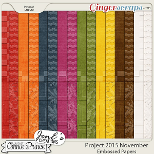 Project 2015 November - Embossed Papers