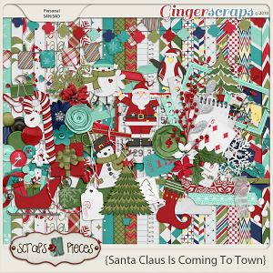 Santa Claus is Coming to Town kit by Scraps N Pieces