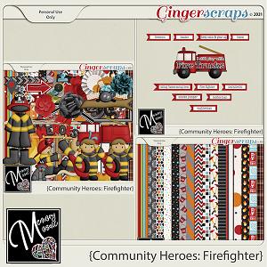 Community Heroes - Firefighter by Memory Mosaic