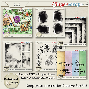 Keep your memories Creative Box #13