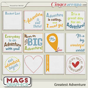 Greatest Adventure JOURNAL CARDS by MagsGraphics