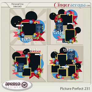 Picture Perfect 231 - Template Pack by Aprilisa Designs