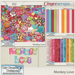 Monkey Love {Bundle Collection} by Day Dreams 'n Designs