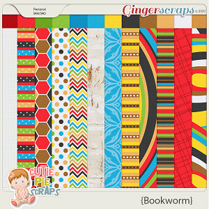 Bookworm Papers By Cutie Pie Scraps
