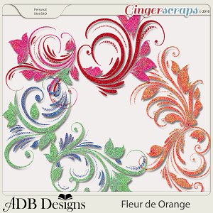 Fleur de Orange Flourishes
