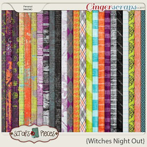 Witches Night Out Papers by Scraps N Pieces