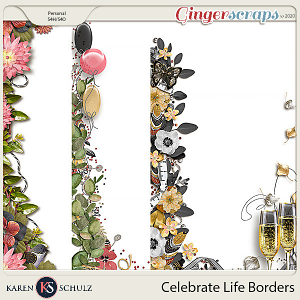Celebrate Life Borders by Snickerdoodle Designs