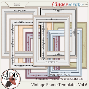 Heritage Resource - Vintage Frame Templates Vol 06 by ADB Designs