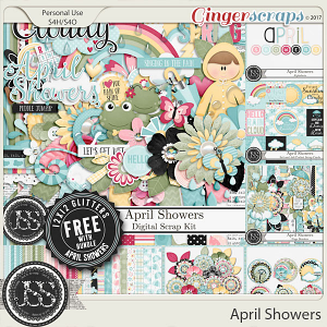 April Showers Digital Scrapbook Bundle