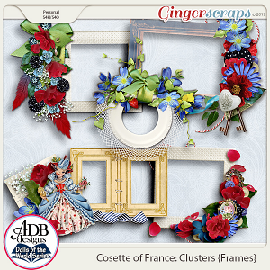 Cosette Frame Clusters {DOTW France} by ADB Designs