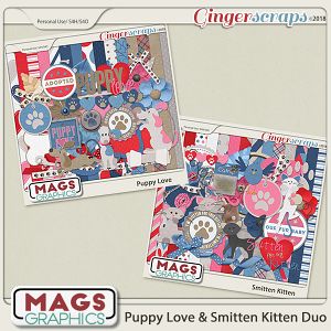 Puppy Love & Smitten Kitten BUNDLE by MagsGraphics