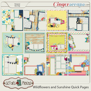 Wildflowers and Sunshine Quick Pages by Scraps N Pieces