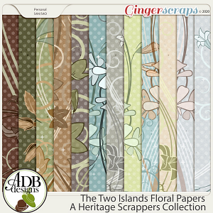 The Two Islands Floral Paper by ADB Designs