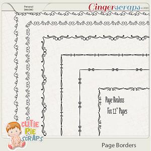Page Borders 40 By Cutie Pie Scraps