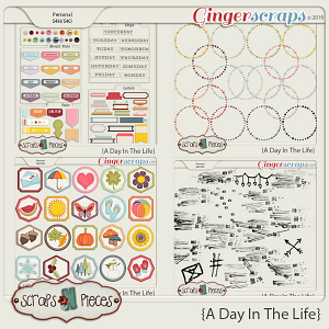 A Day In The Life Extra Elements by Scraps N Pieces