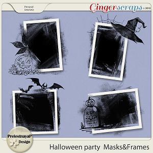 Halloween party Masks&Frames