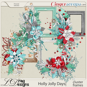 Holly Jolly Days: Cluster Frames by LDragDesigns