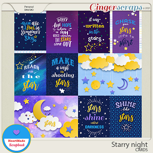 Starry night - cards