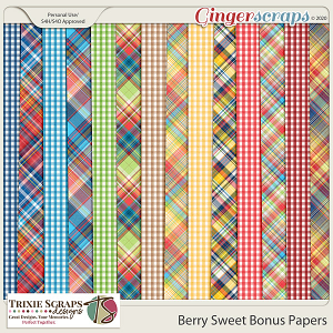 Berry Sweet Bonus Papers by Trixie Scraps Designs