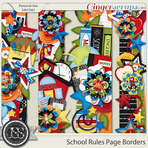 School Rules Page Borders