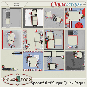 Spoonful of Sugar Quick Pages by Scraps N Pieces