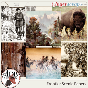 Heritage Resource - Frontier Scenic Papers by ADB Designs