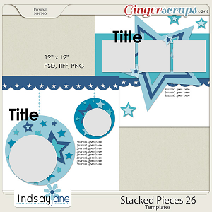 Stacked Pieces 26 Templates by Lindsay Jane
