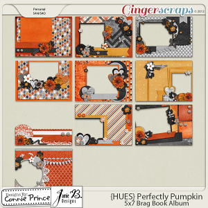 {HUES} Perfectly Pumpkin - Brag Book Album