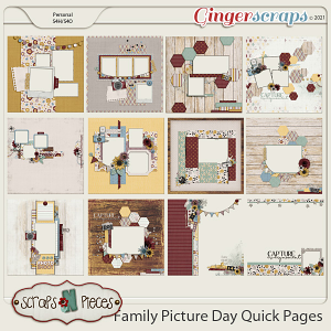 Family Picture Day Quick Pages - Scraps N Pieces