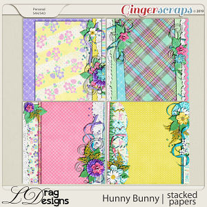 Hunny Bunny: Stacked Papers by LDragDesigns