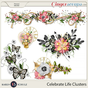 Celebrate Life Clusters by Snickerdoodle Designs