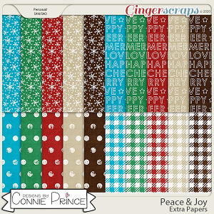 Peace & Joy - Extra Papers by Connie Prince