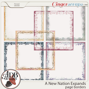 A New Nation Expands Page Borders by ADB Designs