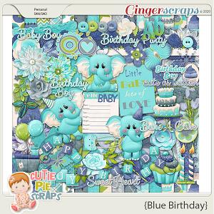Blue Birthday Page Kit