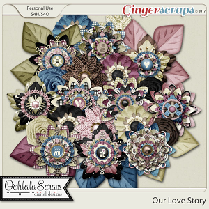 Our Love Story Layered Flowers