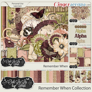 Remember When Digital Scrapbook Bundle