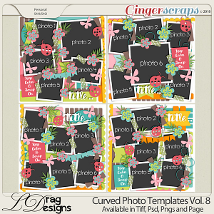 Curved Photo Templates Vol.8 by LDragDesigns