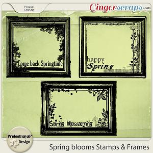 Spring blooms Stamps & Frames