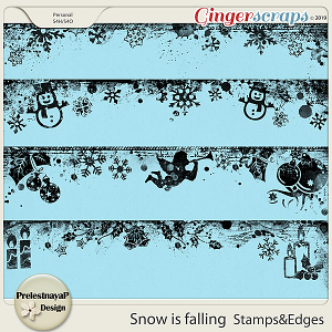 Snow is falling Stamps & Edges