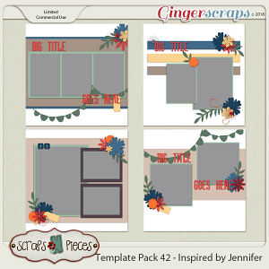 Template Pack 42 - Inspired by Jennifer by Scraps N Pieces