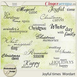 Joyful times Wordart