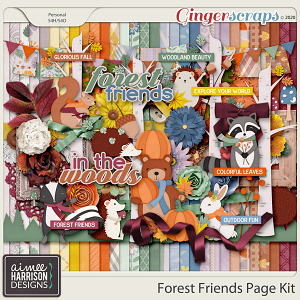 Forest Friends Page Kit by Aimee Harrison