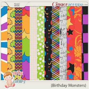Birthday Monsters Papers
