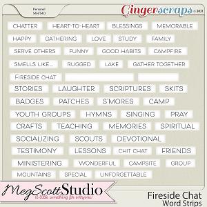 Fireside Chat - Word Strips