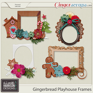 Gingerbread Playhouse Frame Clusters by Aimee Harrison