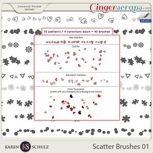 Scatter Brushes 01 by Karen Schulz