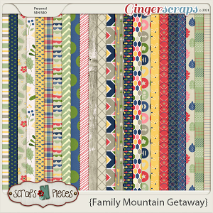 Family Mountain Getaway Papers by Scraps N Pieces