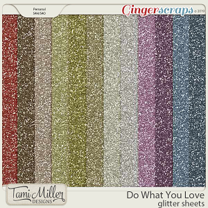 Do What You Love Glitter Sheets by Tami Miller Designs